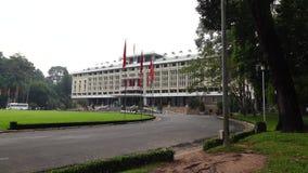 Palacio de la independencia en Ho Chi Minh City en Viet Nam almacen de video