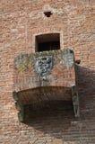 Palacio de la institución. Grazzano Visconti. Emilia-Romagna. Italia. Fotos de archivo libres de regalías