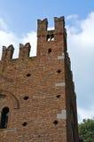 Palacio de la institución. Grazzano Visconti. Emilia-Romagna. Italia. Foto de archivo