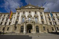 Palacio de la justicia en Munich Imágenes de archivo libres de regalías