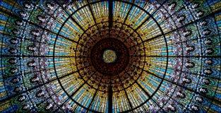 Palacio de la música catalana en Barcelona Foto de archivo libre de regalías