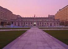 Palacio de La Moneda em Santiago de Chile Fotografia de Stock