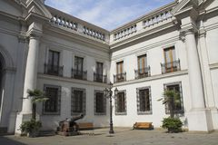 Palacio de La Moneda Inner Garden Royalty Free Stock Photography