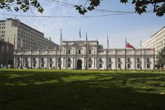 Palacio de La Moneda Santiago fa il Cile Fotografia Stock Libera da Diritti