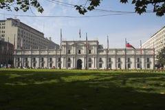 Palacio de La Moneda Santiago font le Chili Photographie stock libre de droits