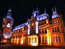 Palacio de la noche Foto de archivo libre de regalías