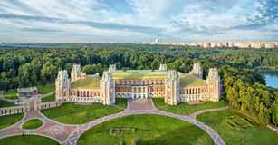 Palacio de la reina Ekaterina en Tsaritsyno, Moscú imagen de archivo