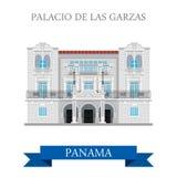 Palacio de Las Garzas in Panama vector flat attraction landmarks Stock Photography