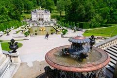 Palacio de Linderhof en Alemania Fotos de archivo libres de regalías