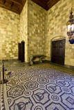 Palacio de los caballeros en Rodas Fotos de archivo libres de regalías