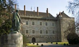 Palacio de los duques de Braganca, Guimaraes Foto de archivo libre de regalías