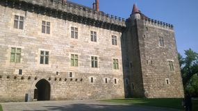 Palacio de los duques Guimarães Fotografía de archivo
