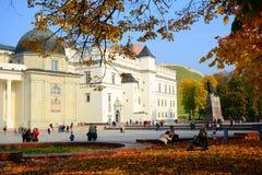 Palacio de los duques magníficos de Lituania en la ciudad de Vilna Imágenes de archivo libres de regalías