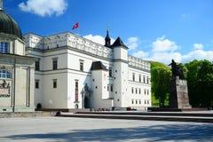 Palacio de los duques magníficos de Lituania en la ciudad de Vilna Fotografía de archivo libre de regalías