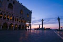 Palacio de los duxes en el amanecer en Venecia Fotos de archivo libres de regalías