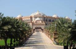 Palacio de los emiratos en Abu Dhabi Imagen de archivo libre de regalías