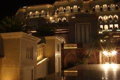 Palacio de los emiratos en la noche Imágenes de archivo libres de regalías