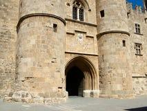 Palacio de los grandes maestros en Rodas, Grecia imagen de archivo libre de regalías