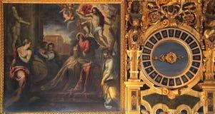Palacio de los regates en Venecia, las pinturas de la cámara de consejo, Venecia Foto de archivo
