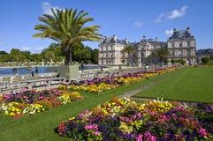 Palacio de Luxemburgo en Jardin du Luxemburgo en París Fotografía de archivo libre de regalías