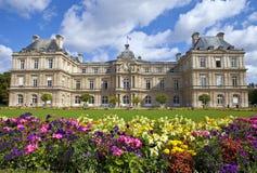 Palacio de Luxemburgo en Jardin du Luxemburgo en París Fotografía de archivo