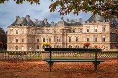 Palacio de Luxemburgo, París Foto de archivo libre de regalías