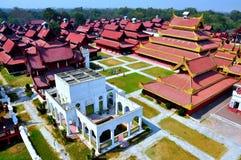 Palacio de Mandalay, Myanmar Birmania Imágenes de archivo libres de regalías