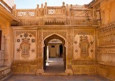 Palacio de Mandir en Jaisalmer, Rajasthán, la India Imagen de archivo