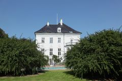 Palacio de Marselisborg en Aarhus, Dinamarca Foto de archivo libre de regalías