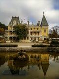 Palacio de Massandra en Crimea fotos de archivo