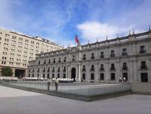 Palacio de Moneda del La, Santiago, Chile fotografía de archivo