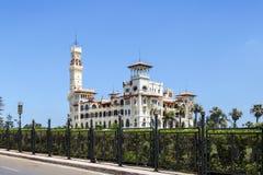 Palacio de Montaza en Alexandría, Egipto Imagen de archivo libre de regalías