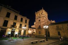 Palacio de Monterrey in Salamanca, Spain, by night. Night view on the illuminated Palacio de Monterrey in Salamanca, Spain, one of the prime examples of the Stock Image