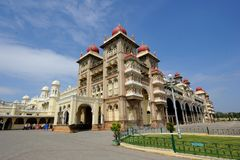 Palacio de Mysore, la India Imagen de archivo