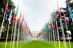 Palacio de Naciones Unidas en Ginebra Imagen de archivo libre de regalías