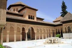 Palacio de Nasrid en Alhambra fotos de archivo