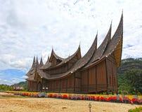 Palacio de Pagaruyung en Sumatra del oeste, Indonesia imágenes de archivo libres de regalías