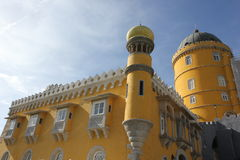 Palacio de Pena yellow section with its towers Stock Photography