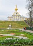 Palacio de Peterhof, Rusia Imágenes de archivo libres de regalías