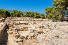 Palacio de Phaistos Crete, Grecia imagen de archivo