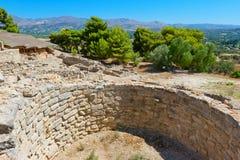Palacio de Phaistos Crete, Grecia imagenes de archivo