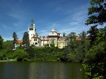 Palacio de Pruhonice Fotos de archivo libres de regalías