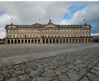 Palacio de Rajoy, Santiago de Compostela. This picture shows Palacio de Rajoy, the palace opposite to the famous cathedral in Santiago de Compostela. The square Stock Photos
