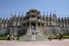 Palacio de Ranakpur en Rajastan la India Imagen de archivo