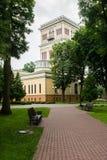 Palacio de Rumyantsev - Paskevich en el parque de la ciudad de Gomel, Bielorrusia Fotografía de archivo