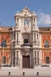 Palacio de San Telmo en Séville Images stock