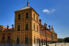 Palacio de San Telmo, old architecture, Seville, Spain Royalty Free Stock Images