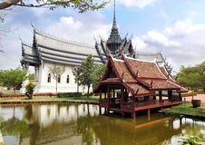 Palacio de Sanphet Prasat, Muang Boran, ciudad antigua provincia de Tailandia, Samut Prakan, Bangkok, Tailandia Foto de archivo libre de regalías