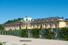 Palacio de Sanssouci y viñedo colgante imagen de archivo libre de regalías
