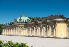 Palacio de Sanssouci y viñedo colgante foto de archivo